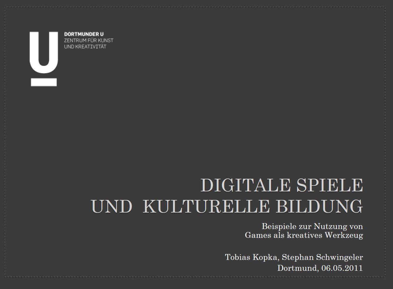 Lecture: Games und Kulturelle Bildung